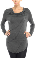 Celeste Charcoal Seam Drape Top