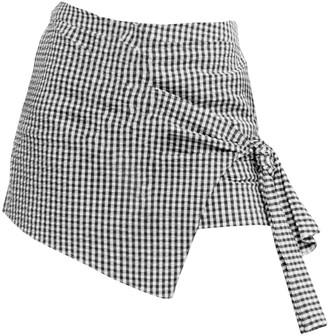Tomcsanyi Solymar Black White Overlap Shorts