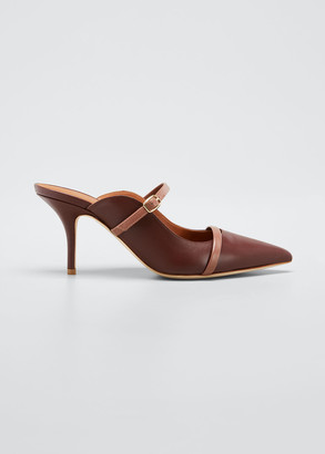 Malone Souliers Melody Leather Pointed-Toe Mules