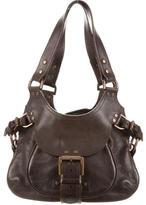Mulberry Buckle-Trimmed Shoulder Bag