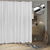 Tishine Mildew Resistant Shower Curtain Water-Repellent and Anti-Bacterial, 72x72 - White