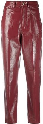Philosophy di Lorenzo Serafini Faux-Leather Slim Trousers