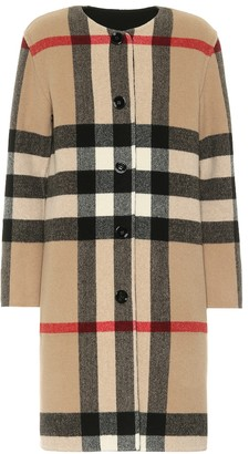 Burberry Checked reversible wool-blend coat