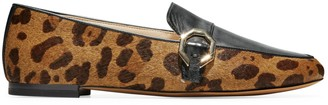 Cole Haan Teresa Animal-Print Calf Hair & Leather Loafers