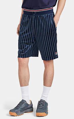 Fila Men's Lamotta Striped Velour Drawstring Shorts - Navy
