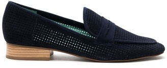 Blue Bird Shoes Perforated Design Loafers