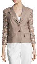 Escada Wool Jacket with Embellished Sleeves