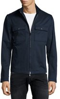 John Varvatos Chest-Pocket Zip Jacket, Indigo