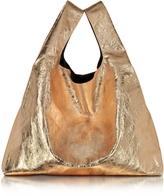 MM6 Maison Martin Margiela Rose Gold Laminated Eco Leather Tote