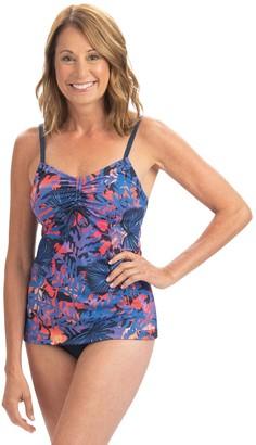 Dolfin Aquashape Isla Print Tie-Front Tankini Swim Top