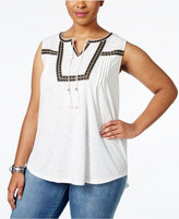 Style&Co. Style & Co. Plus Size Sleeveless Peasant Blouse, Only at Macy's