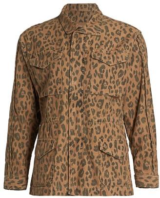 Frame Cheetah Print Service Cargo Jacket