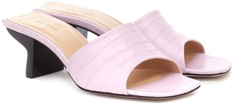 BY FAR Exclusive to Mytheresa Croc-effect leather sandals