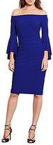 Lauren Ralph Lauren Off-the-Shoulder Bell Sleeve Jersey Dress