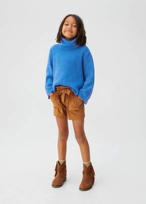 MANGO Turtleneck flecked sweater