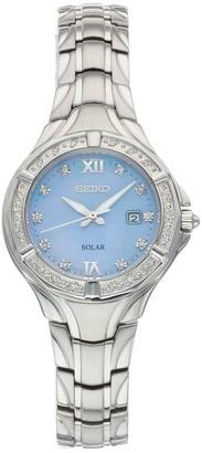 Seiko Women's Solar Diamond Accent Watch - SUT371