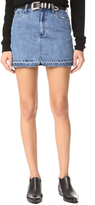 Free People Step Up Denim Mini Skirt