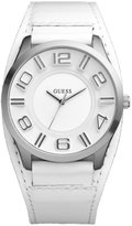 GUESS GUESS? Men's W12624G1 Leather Quartz Watch with Dial