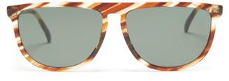 Givenchy Flat-top Acetate Sunglasses - Womens - Brown Print