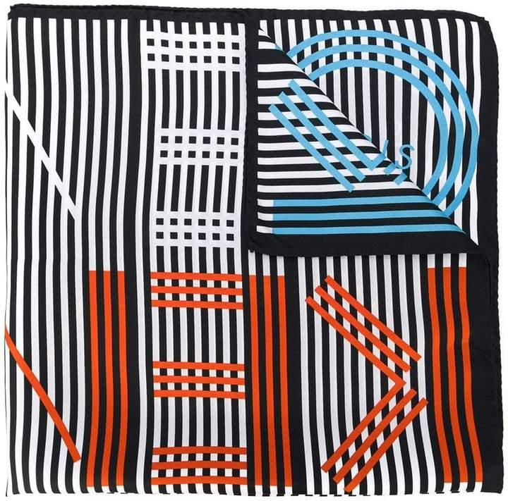 Kenzo striped logo scarf