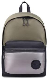 HUGO BOSS Backpack In Nylon Gabardine With Logo Badge - Black