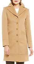 Katherine Kelly Single Breasted Notch Collar Cashmere Coat