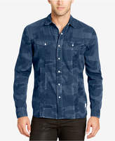 William Rast Men's Denim Camo Shirt