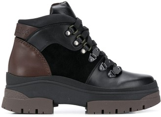 See by Chloe Contrast-Panel Hiking Boots