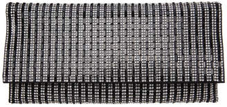 Nina Chicago Crystal Stripe Clutch