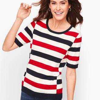 Talbots Tricolor Block Stripe Sweater