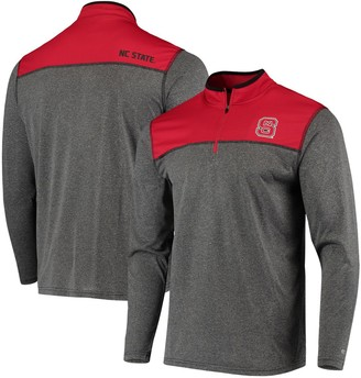 Colosseum Men's Black NC State Wolfpack Rangers Quarter-Zip Pullover Wind Shirt