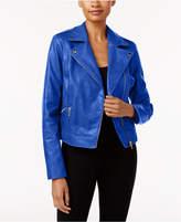 Thalia Sodi Faux-Leather Moto Jacket, Created for Macy's