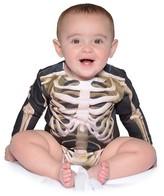 Faux Real Boys' Baby Skeleton Romper Costume