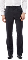 Jeff Banks Big And Tall Navy Wool Blend Tailored Trousers
