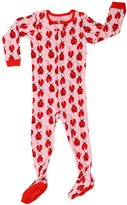 "Elowel Pajamas Elowel Baby Girls footed ""Ladybug"" pajama sleeper 100% cotton 2 Toddler"
