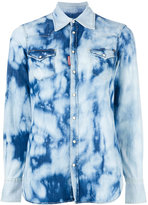 DSQUARED2 bleached denim shirt - women - Cotton/Spandex/Elastane - 36
