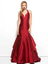 Mac Duggal Black White Red Style 48436R