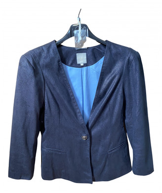 Silvian Heach Blue Suede Jackets