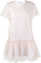 RED Valentino tulle panel T-shirt dress