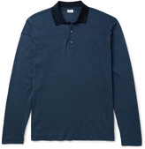 Brioni - Cotton And Silk-blend Piqué Polo Shirt