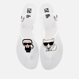Karl Lagerfeld Paris Women's Jelly Ikonic Sling Sandals