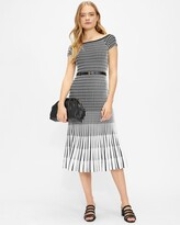 Thumbnail for your product : Ted Baker Bardot Stripe Knitted Midi Dress