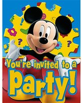 Rubie's Costume Co Party America Mickey's Clubhouse Invitations, 8ct