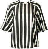 MSGM striped raglan blouse - women - Cotton/Viscose - 38