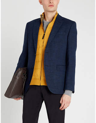 BOSS Extra slim-fit single-breasted crepe blazer