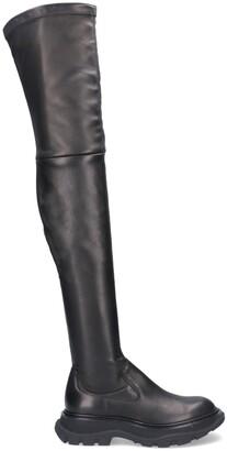 Alexander McQueen Thigh-High Boots