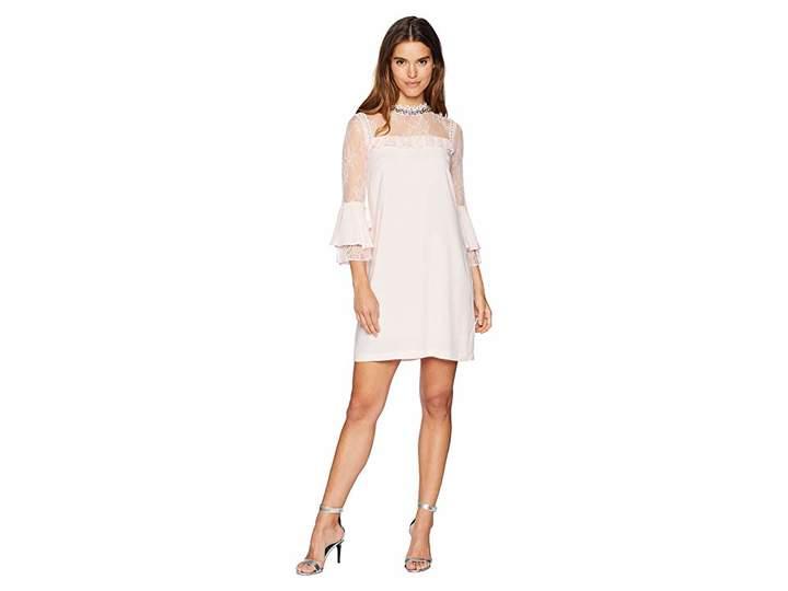 Juicy Couture Lace Mixed Ruffle Shift Dress Women's Dress