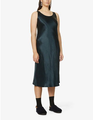 Max Mara Talete sleeveless crepe-satin maxi dress