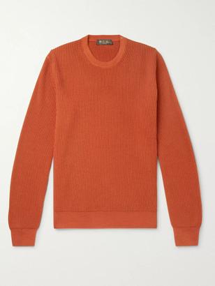 Loro Piana Slim-Fit Ribbed Cashmere Sweater - Men - Orange