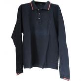 Burberry Black Cotton Polo shirt
